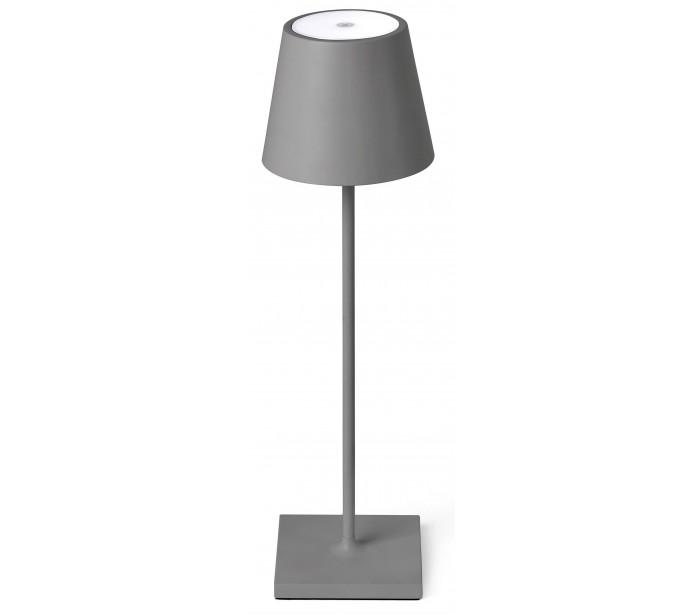 faro barcelona Toc transportabel bordlampe h39 cm 1 x smd led 2,2w - grå fra lepong.dk