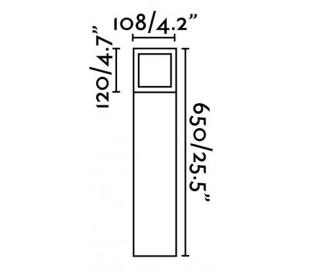 Onze havelampe H65 cm 1 x E27 - Mørkegrå