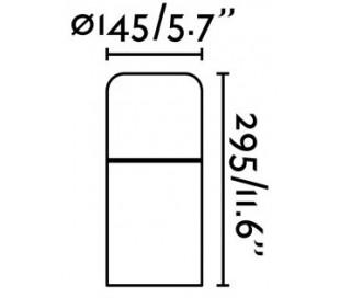 Muga havelampe H29,5 cm 1 x COB LED 9W - Mørkegrå