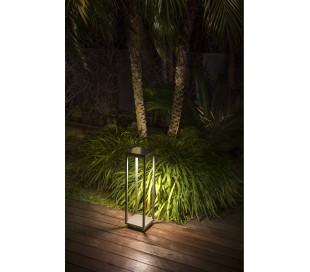 Saura havelampe med sensor H50 cm 1 x Solar LED 2,2W - Mørkegrå