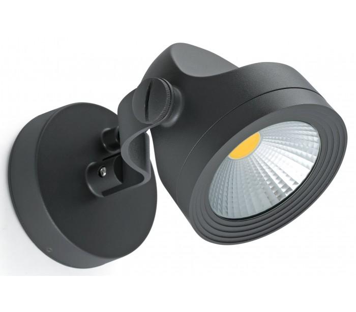 Alfa spot væglampe 1 x COB LED 14W – Mørkegrå