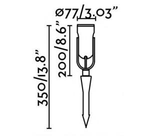 Slot bedlampe H20/35 cm 1 x COB LED 14W - Sort