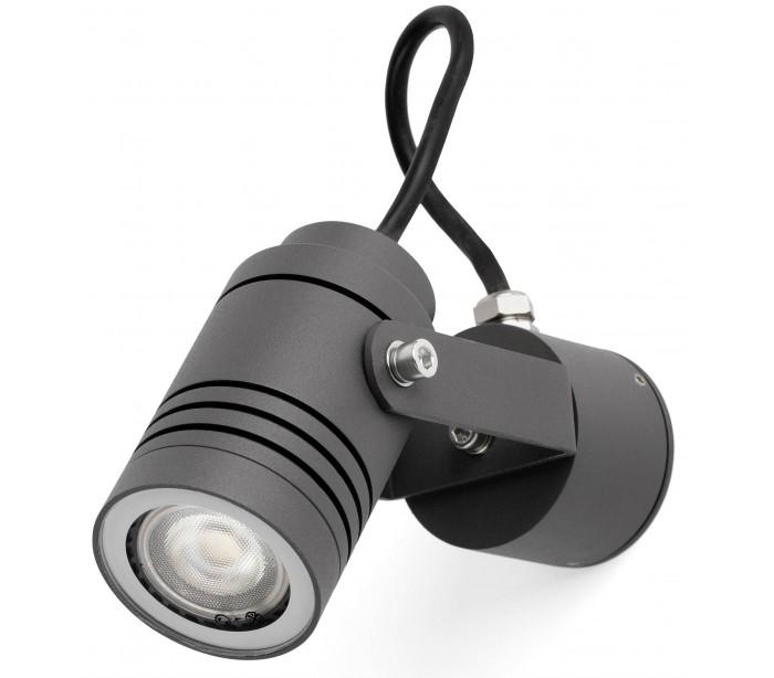 faro barcelona Lit spot væglampe 1 x gu10 - mørkegrå fra lepong.dk
