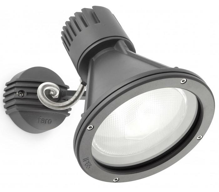 faro barcelona – Project spot væglampe 1 x e27 - mørkegrå fra lepong.dk