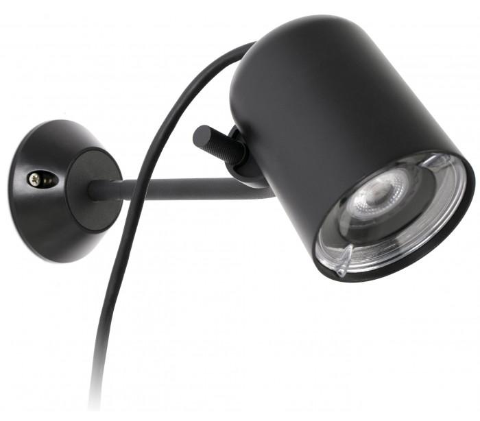 faro barcelona – Flow spot væglampe med spyd 1 x gu10 - sort på lepong.dk
