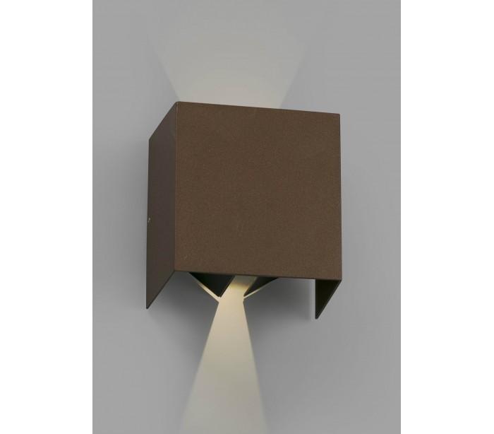 faro barcelona – Olan væglampe 2 x cob led 6w - rust på lepong.dk