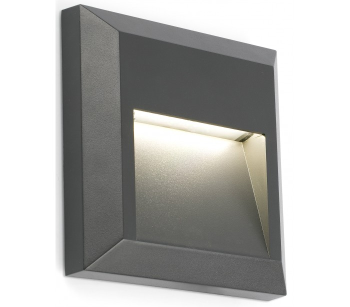 globo lamper Grant væglampe 1 x smd led 1w - mørkegrå fra lepong.dk