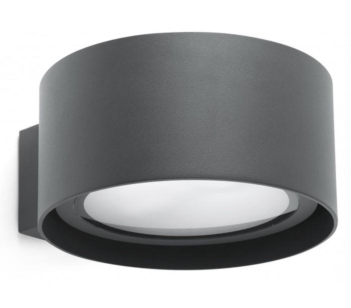 Quart væglampe 1 x led 30w - mørkegrå fra nordlux på lepong.dk