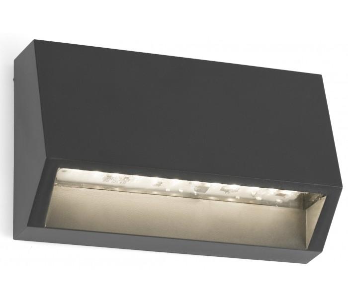 faro barcelona Must væglampe 1 x smd led 2w - mørkegrå fra lepong.dk