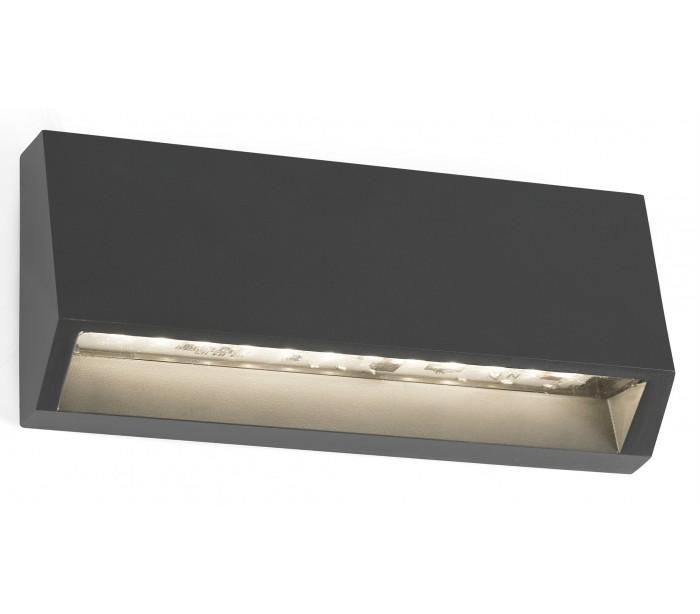 faro barcelona – Must væglampe 1 x smd led 3w - mørkegrå fra lepong.dk