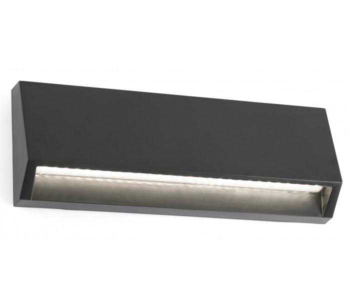 faro barcelona – Must væglampe 1 x smd led 4w - mørkegrå fra lepong.dk
