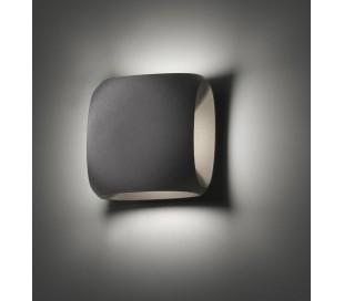 BU-OH væglampe 1 x SMD LED 12W - Mørkegrå