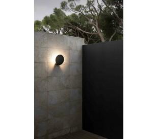 Lotus væglampe 1 x COB LED 18W - Mørkegrå