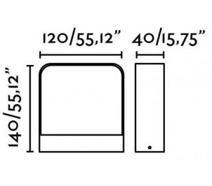 Axel væglampe 1 x COB LED 6W - Mørkegrå