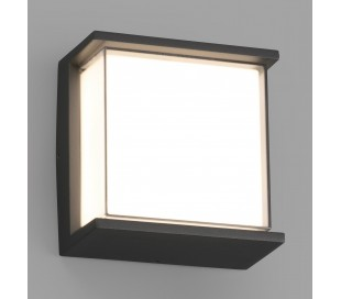 Hikari væglampe 1 x SMD LED 10W - Mørkegrå