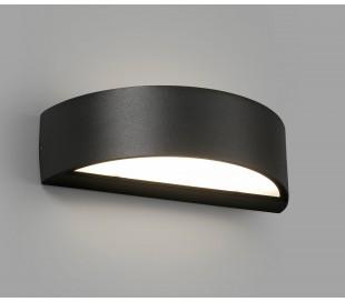 Oval væglampe 1 x SMD LED 10W - Mørkegrå