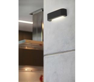 Bracket væglampe 1 x SMD LED 6W - Mørkegrå