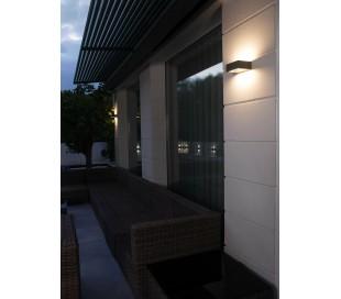 Alp væglampe 1 x SMD LED 8W - Mørkegrå