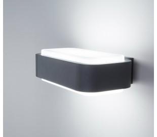 Sticker væglampe 1 x SMD LED 10W - Mørkegrå
