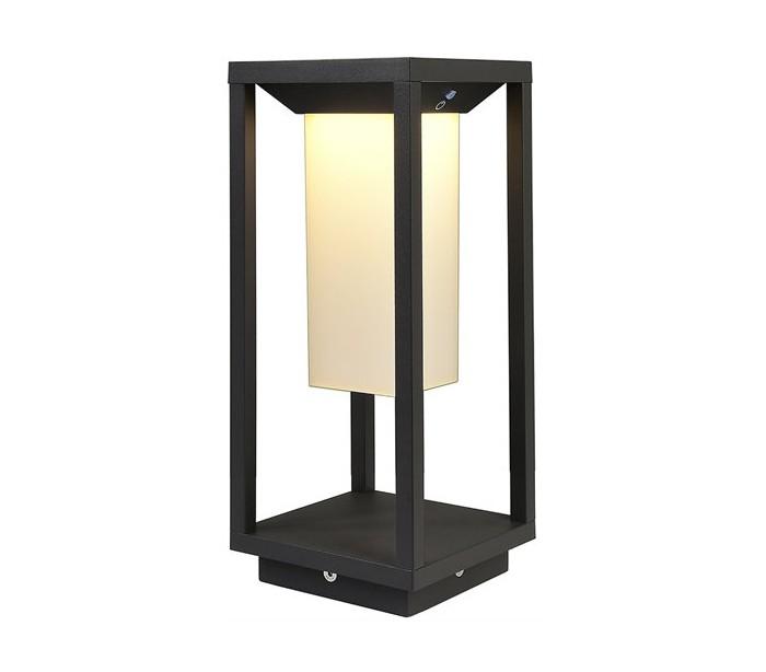 deko light – Samas havelampe med sensor h34 cm 1 x solar led 2,2w - mørkegrå fra lepong.dk