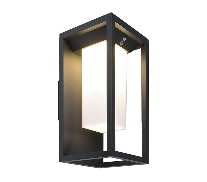 Samas væglampe med sensor h29 cm 1 x solar led 2,2w - mørkegrå fra selected by lepong på lepong.dk