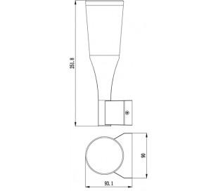 Bessma IV væglampe 9W LED H25,2 cm - Antracit