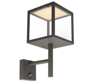 Lacertae væglampe med sensor 9W LED H37 cm - Antracit