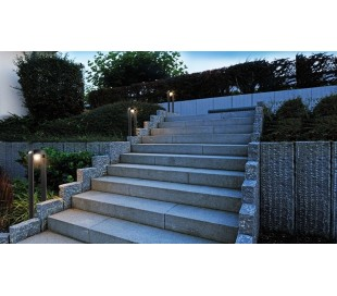 Antliae bedlampe 12W LED H50 cm - Antracit
