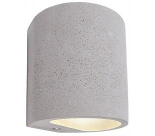 Sabik væglampe 1 x 25W G9 H12 cm - Betongrå