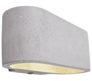 Atria væglampe 1 x 25W G9 B18 cm - Betongrå
