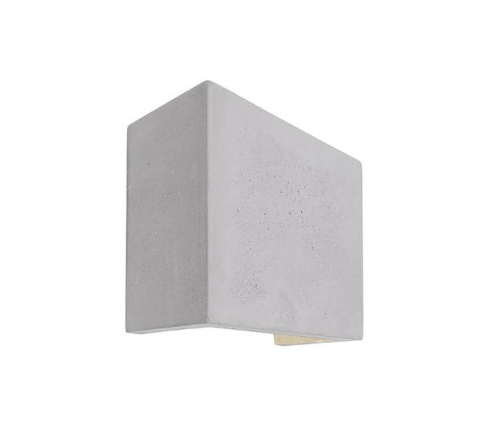 deko light quinta ii væglampe 1 x 6w led h12,5 cm - betongrå