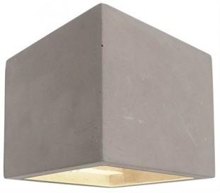 Cube væglampe 1 x 25W G9 H11,5 cm - Medium betongrå
