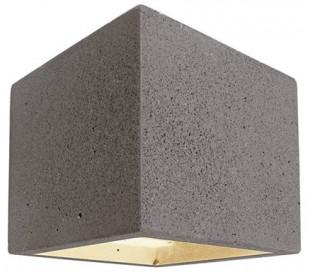 Cube væglampe 1 x 25W G9 H11,5 cm - Mørk betongrå