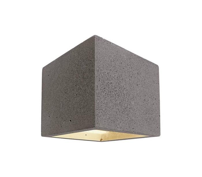 Cube væglampe 1 x 25w g9 h11,5 cm - mørk betongrå fra deko light fra lepong.dk