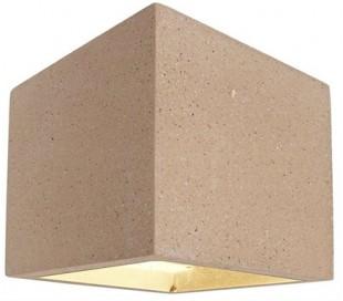 Cube væglampe 1 x 25W G9 H11,5 cm - Beige beton
