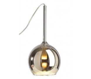 Bunda loftlampe i glas 1 x G9 Ø13,5 cm - Sølv