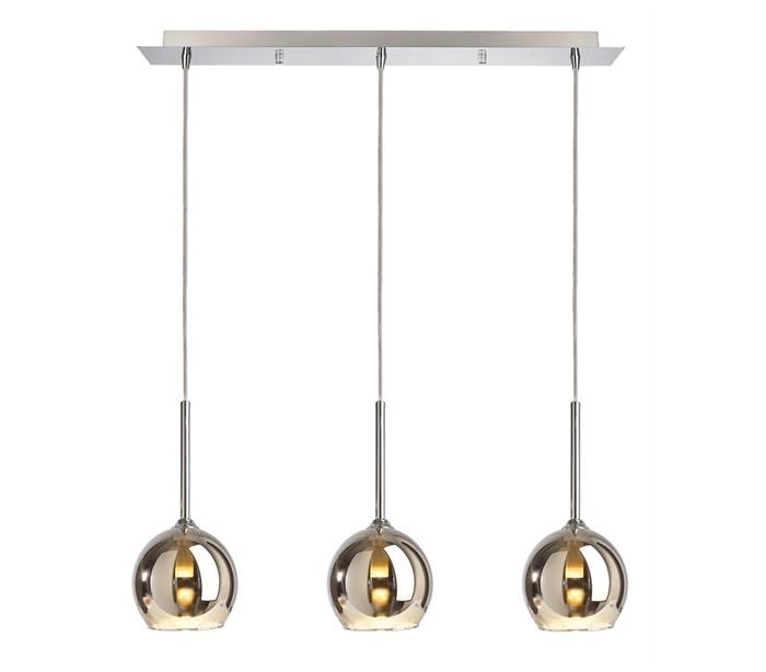Bunda loftlampe i glas 3 x g9 b63,5 cm - sølv fra deko light fra lepong.dk