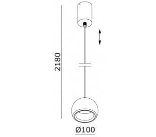 Heze I loftlampe 1 x 5W LED Ø10 cm - Hvid