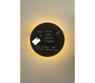 Væglampe med tavle Ø45 cm 1 x LED 12W - Sort