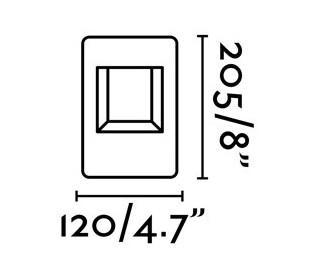 Naya havelampe H20,5 cm 1 x SMD LED 8W - Mørkegrå