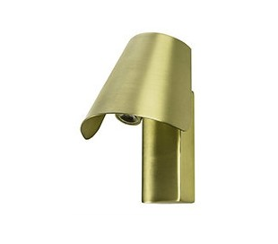 Væglampe i aluminium H14 cm 1 x LED 4W - Antik satineret guld
