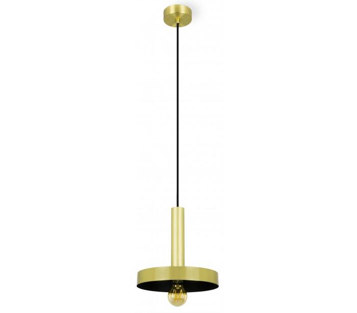faro barcelona Loftlampe i metal ø25 cm 1 x e27 - satineret guld/sort på lepong.dk