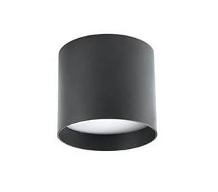 Påbygningsspot i aluminium Ø15 cm 1 x 30W LED - Sort