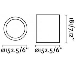 Påbygningsspot i aluminium Ø15,2 cm 1 x E27 - Hvid