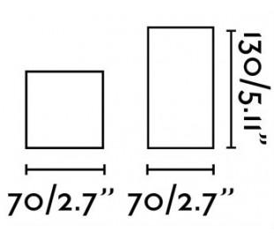 Påbygningsspot i aluminium Ø7 cm 1 x GU10 - Poleret aluminium/Sort