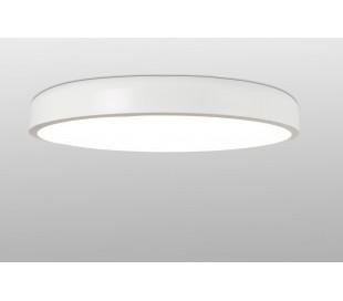Plafond i metal og akryl Ø55 cm 1 x 36W LED - Hvid