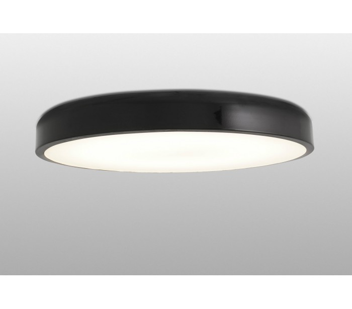 Image of   Plafond i metal og akryl Ø55 cm 1 x 36W LED - Sort