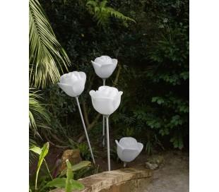 BABYLOVE udendørs gulvlampe i Poleasy H175 x Ø42 cm - Hvid