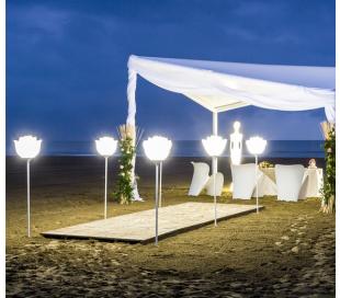 BABYLOVE udendørs gulvlampe i Poleasy H155 x Ø42 cm - Hvid