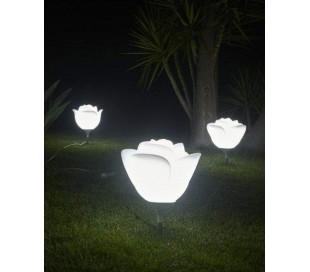 BABYLOVE udendørs bedlampe i Poleasy H70 x Ø42 cm - Hvid